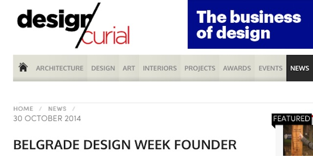 Jovan Jelovac Interview - Design Curial, Architecture and Design Portal, UK