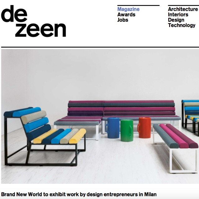 Brand New World to exhibit work by design entrepreneurs in Milan by Dezeen